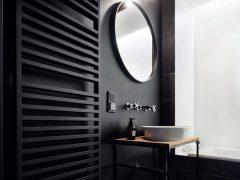 Grzejniki łazienkowe w kolorze czarnym
